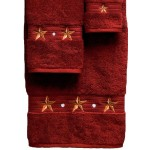 image for Barn Star 3-Piece Bath Towel Set Garnet