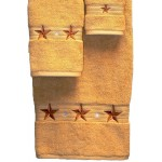 image for Barn Star 3-Piece Bath Towel Set Gold