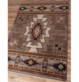 image for Barrel Worn Saddle Southwestern Rug Various Sizes by American Dakota