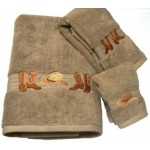 image for Cowboy Boots and Hat 3-Pc Bath Towel Set Linen
