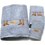 image for Cowboy Boots and Hat 3-Pc Bath Towel Set Smoke