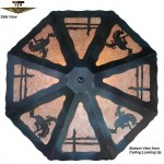 image for Bronc Rider Western Ceiling Fixture 23 inch