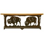 image for Buffalo Scenic Bath Shelf & Towel Bar 20 inch
