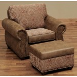 image for Burly Collection Leather Upholstered El Dorado Lounge Chair