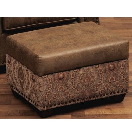 image for Burly Collection Leather Upholstered Storage Ottoman