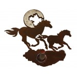 image for Horses on the Run Burnished Steel Robe Hook