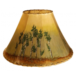 image for Aspen Trees Scene Hand Painted Leather Lampshades