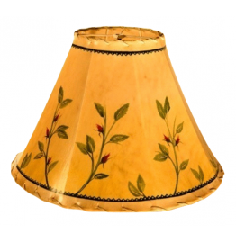 image for Western Rosebuds Hand Painted Leather Lampshades