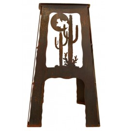 image for Desert Moon Cactus Metal Kitchen Counter Stool 24""