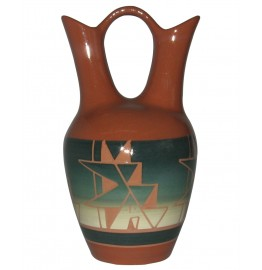 image for Cedar Pass Lakota Sioux Wedding Vase 9.5 x 5.5