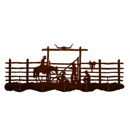 image for Cowboy Corral Western 5 Hook Wall Rack