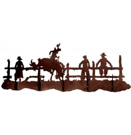 image for Bronc Rider Western 5 Hook Wall Rack