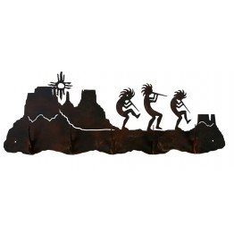 image for Kokopelli Desert Southwest 5 Hook Wall Rack