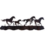 image for Wild Horses Western 5 Hook Wall Rack*