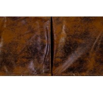 image for Cognac Faux Suede Leather Tailored Bed Skirt