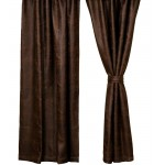 image for Colt Coffee Brown Faux Leather Drapery Panel 52 x 84