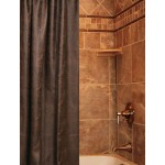 image for Colt Coffee Faux Leather Luxury Custom Shower Curtain
