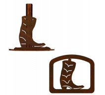 image for Cowboy Boot Western Paper Towel Stand & Napkin Holder