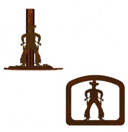 image for Cowboy Rustic Western Paper Towel Stand & Napkin Holder