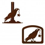 image for Crow Raven Rustic Western Paper Towel Stand & Napkin Holder