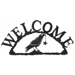 image for Crow Raven & Star Rustic Western Welcome Sign