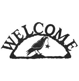 Crow Raven & Star Rustic Western Welcome Sign