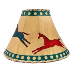 image for Carousel Style Horses Hand Painted Leather Lampshades