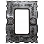 image for Celtic Style Burnished Steel Ranch Wall Mirror 33 x 25