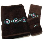 image for Chimayo Southwest 3-Piece Bath Towel Set Brown