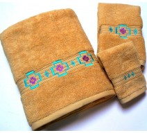 image for Chimayo Southwest 3-Pc Bath Towel Set Gold