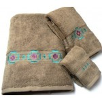 image for Chimayo Southwest 3-Pc Bath Towel Set Linen