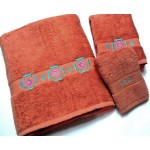 image for Chimayo Southwest 3-pc Bath Towel Set Papaya