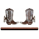 image for Burnished Cowboy Boots Pole Rod Holders (Optional Rod)