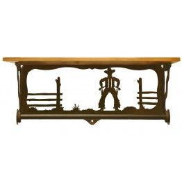 image for Cowboy Draw Bath Shelf & Towel Bar 20 inch