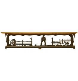 image for Cowboy Draw Bath Shelf & Towel Bar 34 inch