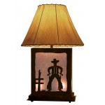 image for Cowboy Draw Scenic Table Lamp & Nightlight 25""