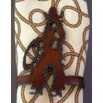 image for Cowboy Figure Metal Napkin Rings set of 8