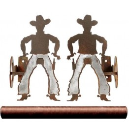 image for Burnished Cowboy Pole Rod Holders (Optional Rod)