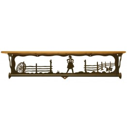 image for Cowgirl Draw Bath Shelf & Towel Bar 34 inch