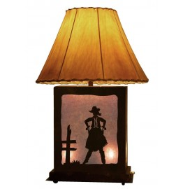 image for Cowgirl Draw Scenic Table Lamp & Nightlight 25 inch