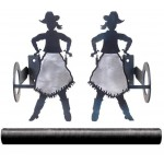 image for Burnished Cowgirl Pole Rod Holders (Optional Rod)