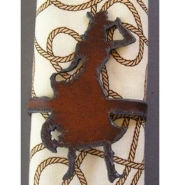 image for Cowgirl Figure Metal Napkin Rings set of 8