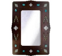 image for Desert Diamond & Turquoise Southwest Mirror 36 x 25