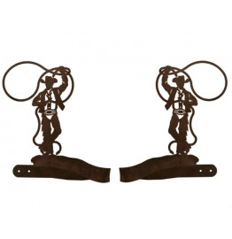 image for Cowboy & Lariat Drapery Curtain Tiebacks
