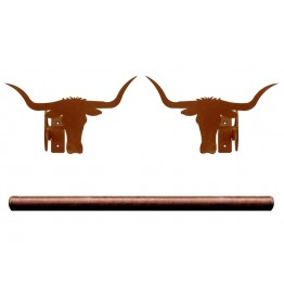 image for Texas Longhorn Steers Pole Rod Holders (Rod Optional)