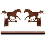 image for Running Horse Pole Rod Holders (Rod Optional)