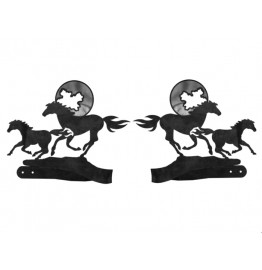 image for Running Horses & Moon Drapery Tiebacks