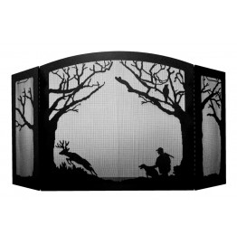 image for Deer Hunter & Buck Scenic Fireplace Screen