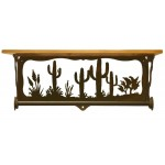 image for Desert Cactus Scenic Bath Shelf & Towel Bar 20 inch