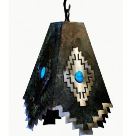 image for Desert Diamond & Turquoise Accent Pendant Lamp